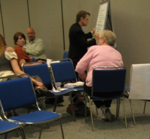Small group discussions fostered interaction among participants